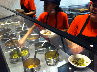 Assembly line at ShopHouse
