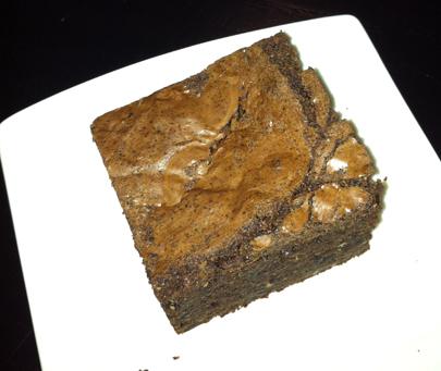 Chocolate Hazelnut Brownie.