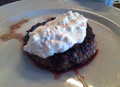 Lamb Burger with Tadziki Sauce