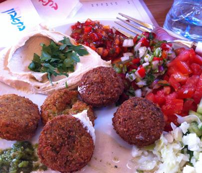 Falafel Plate, Hippo Falafel, Tel Aviv