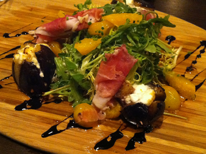 Prosciutto and grilled fig special