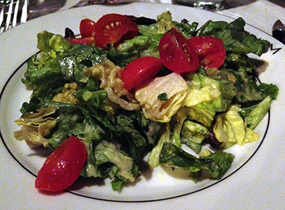 Bibb lettuce salad with mustard vinaigrette